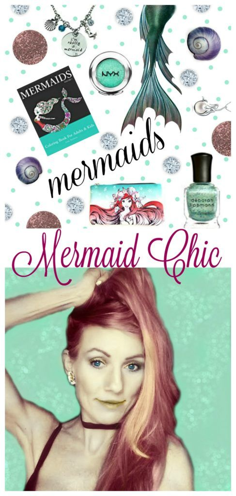 Hand Curated List of All Things Mermaid Chic - mermaid makeup - mermaid coloring book - mermaid blanket - mermaid home decor - mermaid decal - mermaid kitchen -