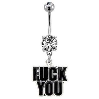Fuck You Belly Button Ring