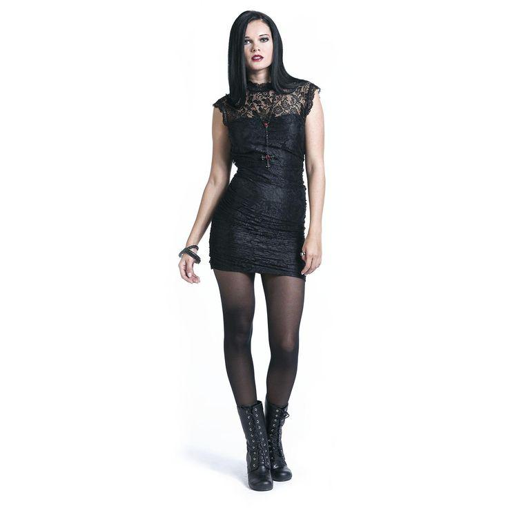 Dress, Miriam, Gothicana by EMP - Sweden Rock Shop, 449 SEK (w/ open oval shape back)