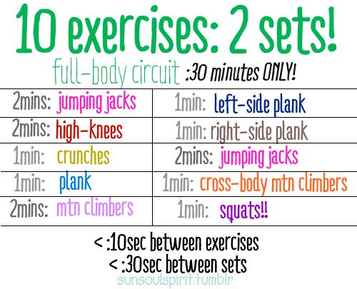 Heres another CIRCUIT: super-easy exercises turned ...