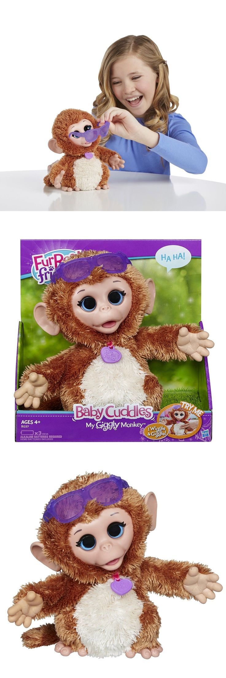FurReal Friends 38288: Furreal Friends Baby Cuddles My Giggly Monkey By Hasbro New -> BUY IT NOW ONLY: $31.99 on eBay!