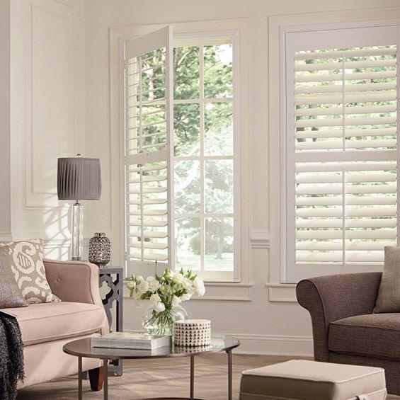 Premium Wood Shutters Blinds Com In 2020 Blinds For Windows Living Rooms Living Room Blinds Wood Blinds Living Room