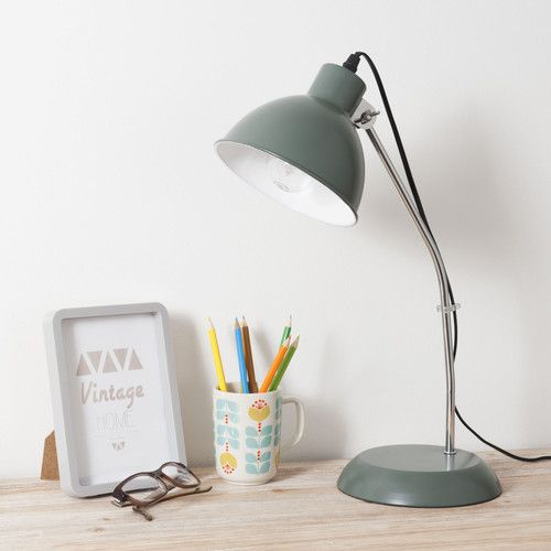 Lampe en m tal kaki mike maisons du monde d co pinterest for Maison du monde facebook