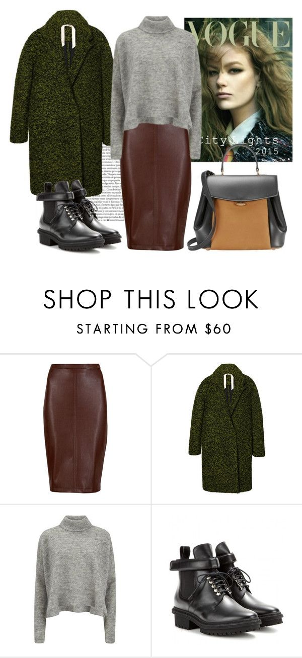 """""""Dark combinations"""" by vicky-wolt ❤ liked on Polyvore featuring M&S Collection, N°21, Designers Remix, Balenciaga and Nina Ricci"""