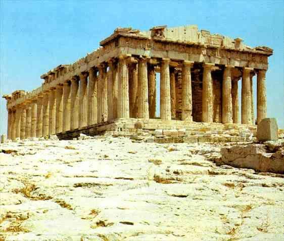 El Arte Griego El Partenón en la Acrópolis de Atenas