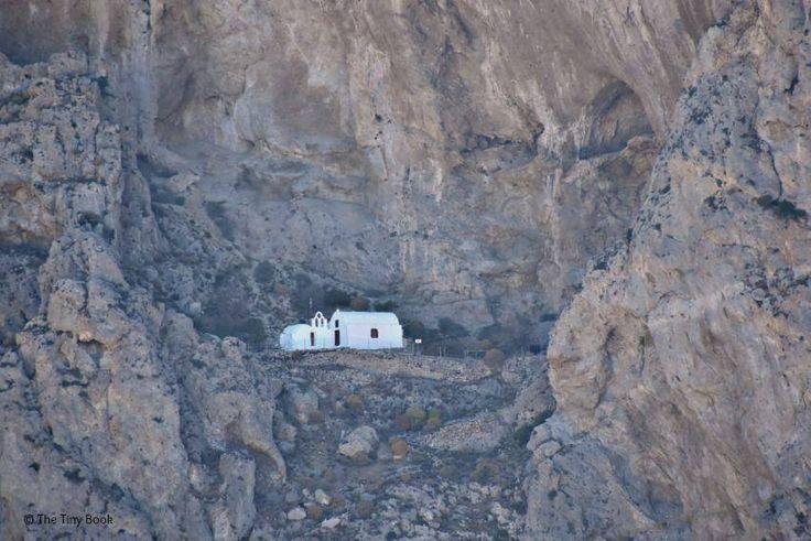Church in the mountain, Perissa, Santorini