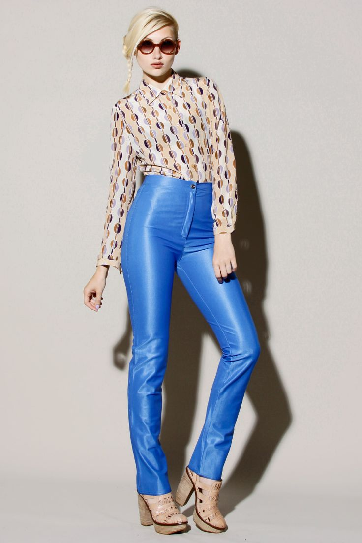 absolutely sexy babes in shiny jeans disco pants