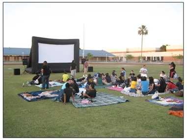 Watch Mickey Mouse Clubhouse on your back yard movie screen from Party Patrol Rentals (413)230-0596 www.PartyPatrolRentals.com