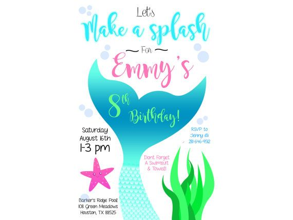 Best 25+ Swim party invitations ideas on Pinterest Beach party - pool party invitation