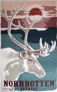 Travel Poster: Sverige - Norrbotten , Country: Sweden , Artist: Ragnar (Ranke) Sandgren