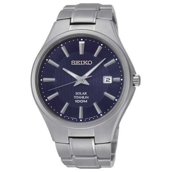 Seiko Solar Titanium SNE381 - Quartz Mens Watch ($281) ❤ liked on Polyvore featuring men's fashion, men's jewelry, men's watches, mens watches, mens quartz watches, mens titanium watches and mens watches jewelry