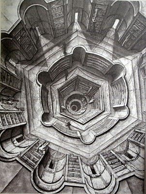 Jorge Luis Borges, The library of Babel. @designerwallace