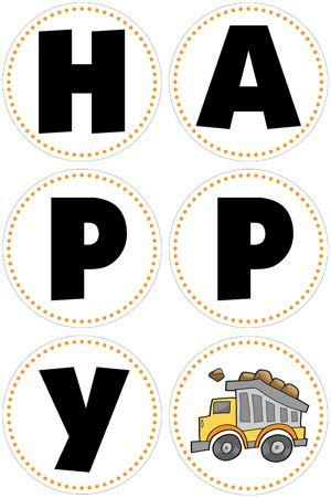 construction birthday party banner