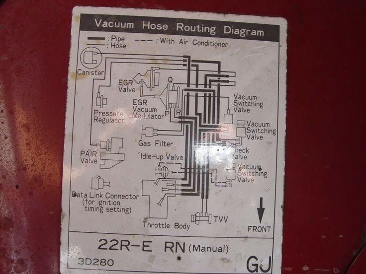 Vacuum diagram 22re   For the Love of Grease and Motors