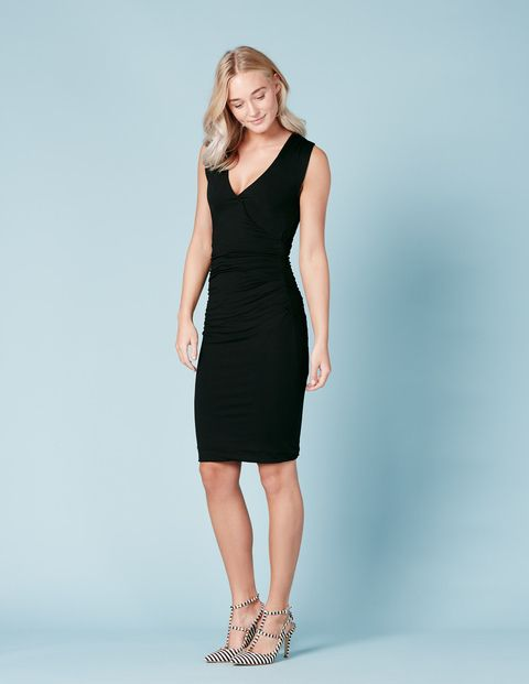 Crossover Ruched Dress WW067 Day Dresses at Boden
