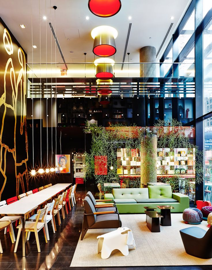 CitizenM Times Square New York Restaurant InteriorsRestaurant