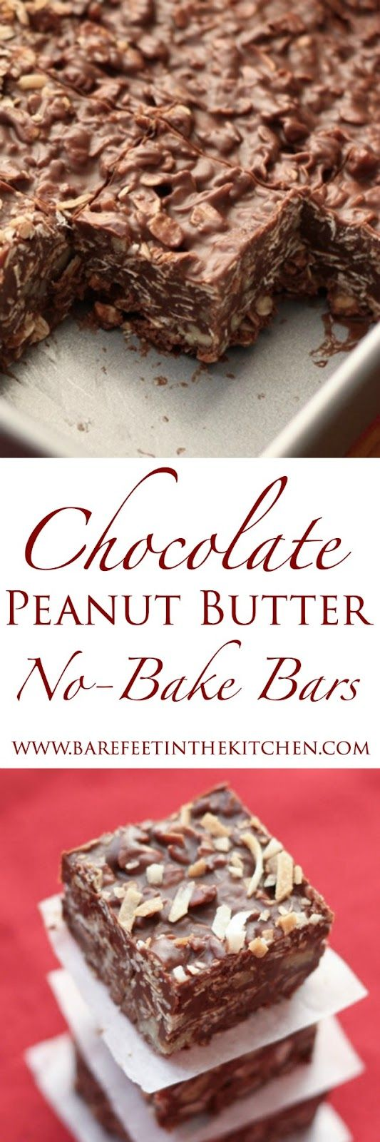Barefeet In The Kitchen: No-Bake Chocolate Peanut Butter Coconut Bites