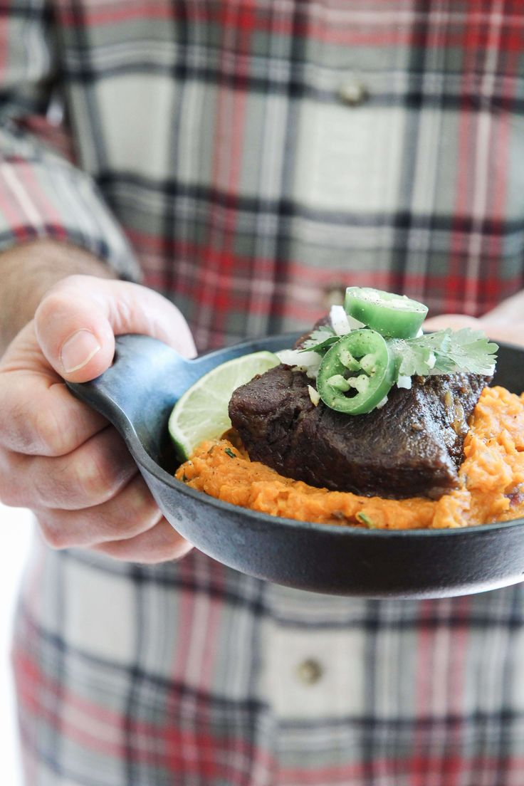 This Beef Short Rib with Chipotle Smashed Sweet Potatoes is just so dreamy. I realize that may be a weird way to describe this dish but I am just kind of obsessed with how these images turned out. I also have a slight obsession with spicy sweet potatoes so these chipotle smashed sweet potatoes are …