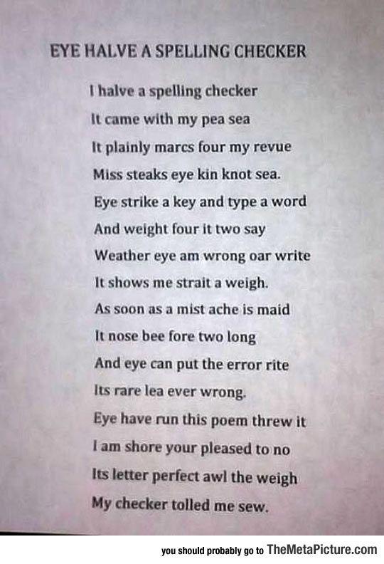 Spelling essays