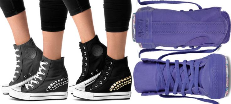 Studded Converse wedge sneakers Chuck Taylor