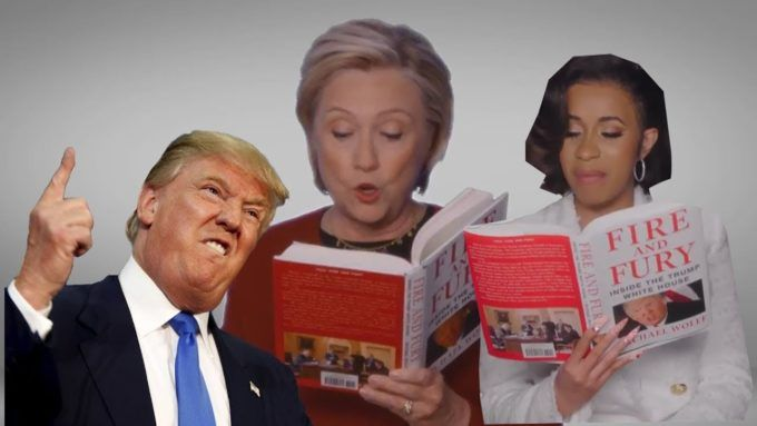 """Hillary Clinton Reads From Donald Trump's 'Fire and Fury' at Grammys      Hillary Clinton and other celebrities sat down to read excerpts from Donald Trump's """"Fire and Fury"""" book at the Grammy Awards on Sunday night. http://thehollywoodunlocked.com/hillary-clinton-and-other-celebs-read-from-donald-trumps-fire-and-fury-at-grammys-video/?utm_campaign=crowdfire&utm_content=crowdfire&utm_medium=social&utm_source=pinterest"""