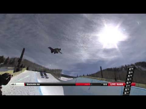Hannah Teter's 2nd place run at the Burton US Open 2013 - Halfpipe Finals
