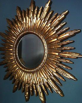 Antique Gold Sunburst Mirror, expensive but gorgeous