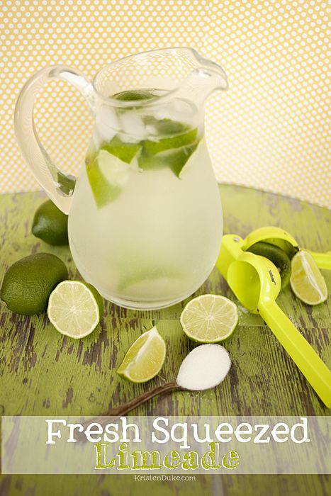Fresh squeezed limeade recipe. So refreshing and delicious for summer.