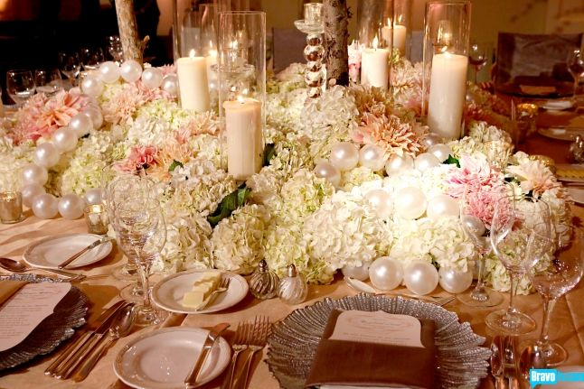 Pink & Pearl Themed Centerpiece