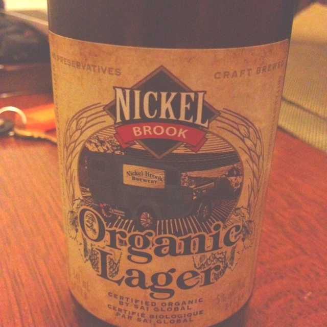 Nickel Brook Organic Lager - Ontario Craft Beer
