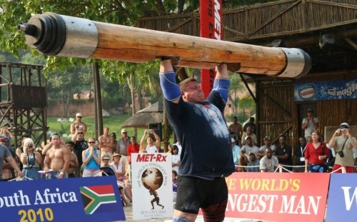 Worlds Strongest Man Competition- log press