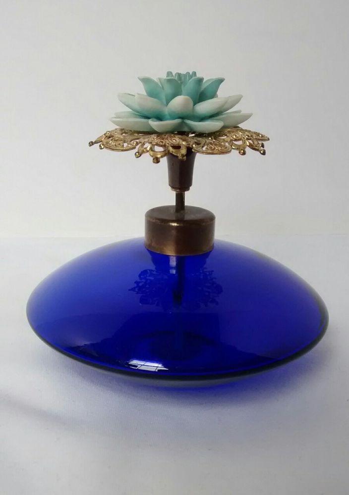 Vintage Irice Cobalt Blue Perfume Bottle Filigree Floral West Germany Spray | Collectibles, Vanity, Perfume & Shaving, Perfumes | eBay!