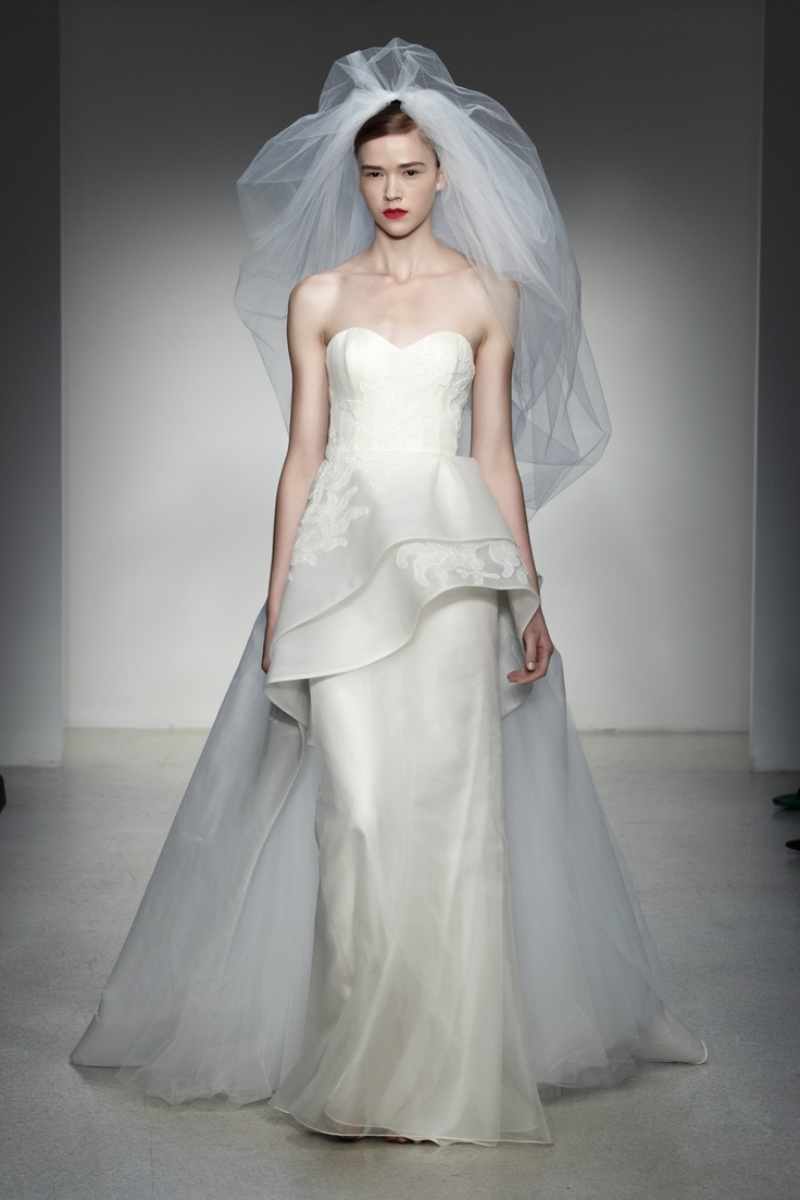 12 best fall 2013 wedding dresses images on pinterest baton crysler amsale fall 2013 bridal silk organza column gown with embroidered tulle overlay ombrellifo Image collections
