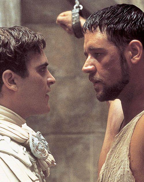 Gladiator/Gladiateur. Russell Crowe (Gladiateur), Joaquin Phoenix (Empereur Commode).  Réalisateur: Ridley Scott, 2000.