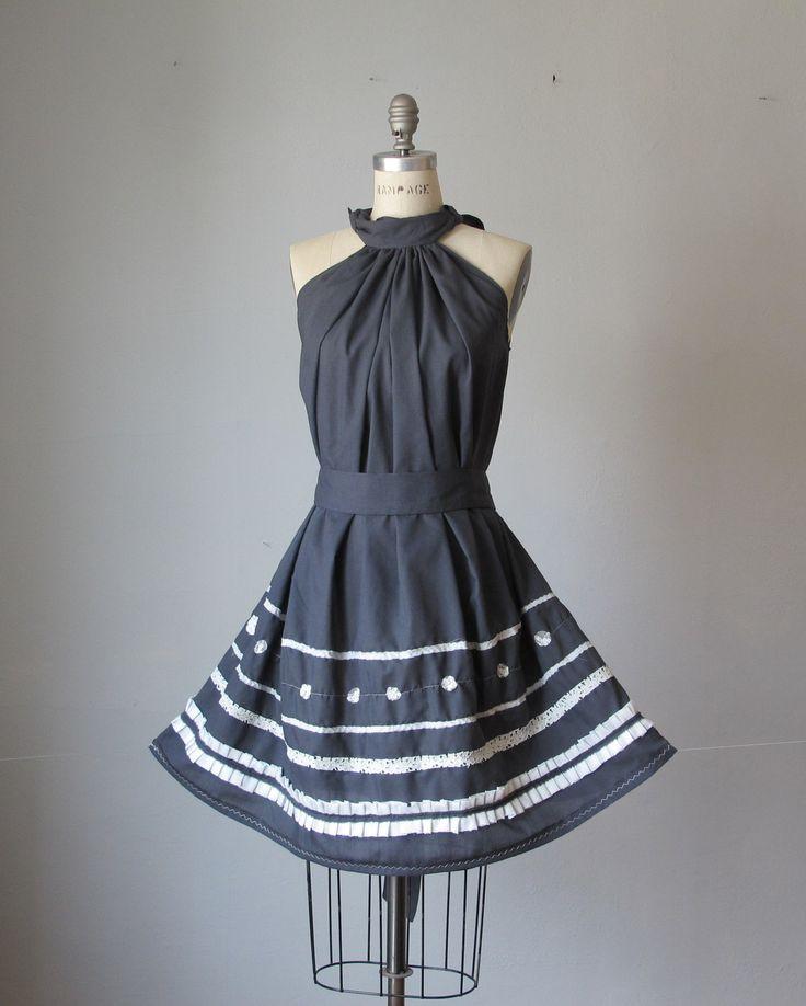 Dress / Gray Grey  / Vintage lace / Ruffles / Romantic / Dreamy / Soft  / READY TO SHIP. $69.99, via Etsy.