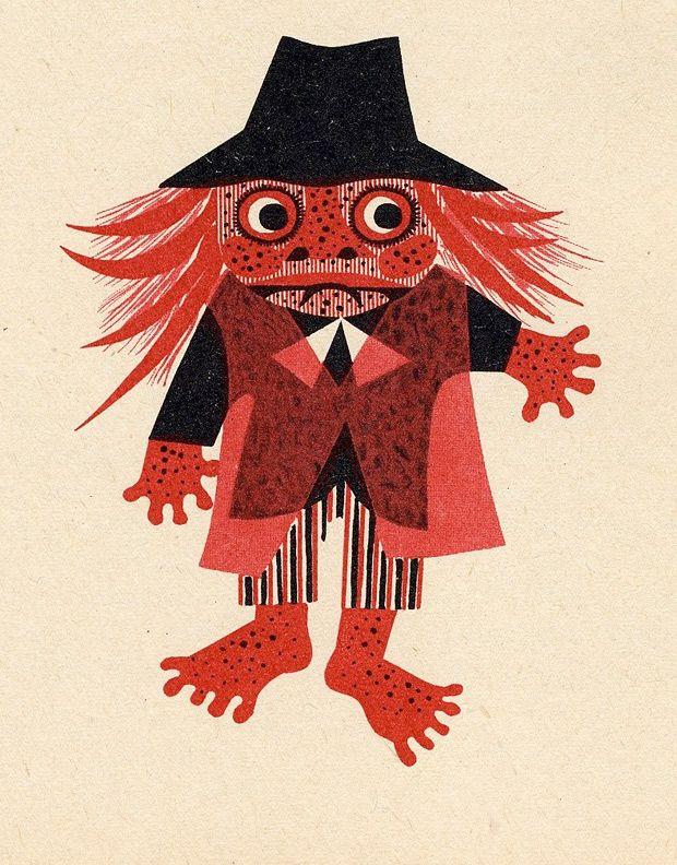 Kingdom on Strings illustrations Czechoslovakia 1962 Illustrator: Jitka Kolínská