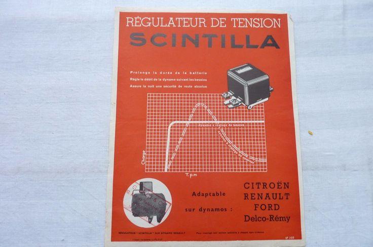 Régulateur de Tension SCINTILLA -Citroën-Renault-Ford-1938 in Collections, Objets publicitaires, Publicités papier, Autos, tracteurs | eBay
