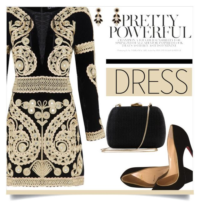 Untitled #679 by ambacasa on Polyvore featuring polyvore, fashion, style, For Love & Lemons, Christian Louboutin, Serpui, Vera Bradley, Selim Mouzannar and clothing