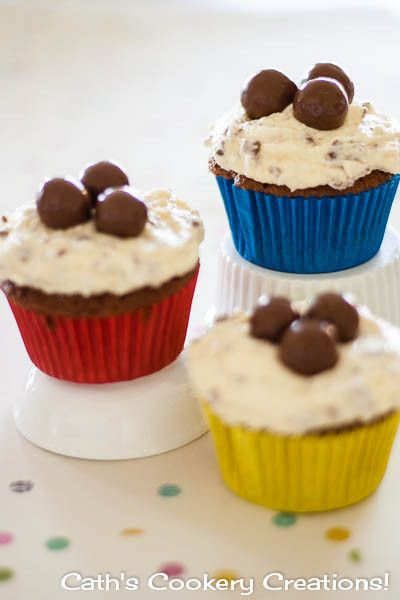 Malteser Cupcakes from Cath's Cookery Creations!   www.cathscookerycreations.com