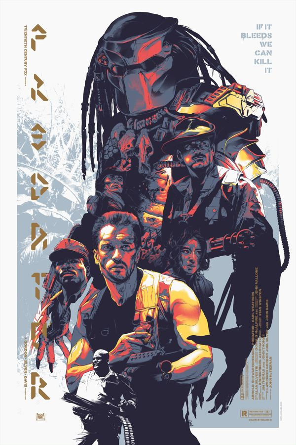 An amazing poster composition for the action/scifi movie Predator (singular as in Arnold Schwarzenegger, not Adrian Brody)  by Grzegorz Domaradzki, via Behance