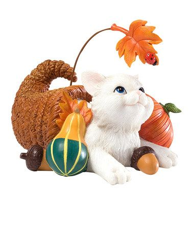 Love this Cornucopia Cat Figurine by Charming Purrsonalities on #zulily! #zulilyfinds