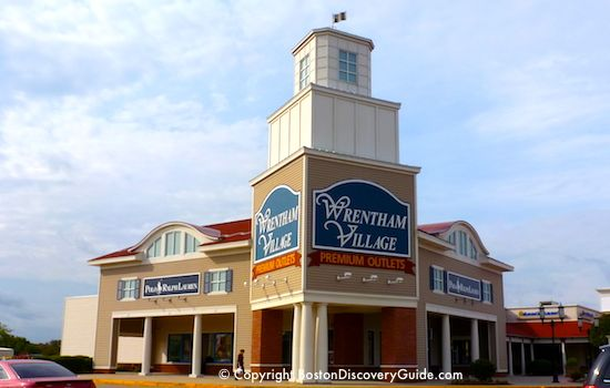 Wrentham Outlets, discount shopping mall near Boston
