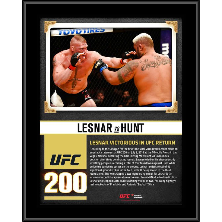 """Brock Lesnar Ultimate Fighting Championship Fanatics Authentic 10.5"""" x 13"""" UFC 200 Win Over Mark Hunt Sublimated Plaque - $23.99"""