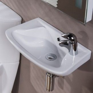 Cosmo 46cm Cloakroom Basin. A contemporary design with clean cut lines and gentle edges working to create a modern style.