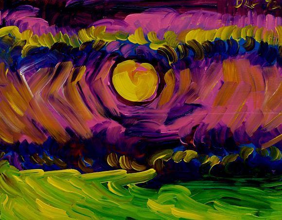 Лунная ночь на море., автор Кандинский-ДАЕ. Артклуб Gallerix