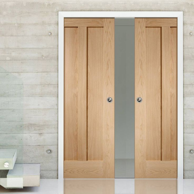 Double Pocket Novara Oak 2 Panel Door & 56 best Panelled Pocket Door Pairs images on Pinterest | Pocket ...