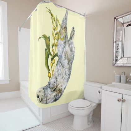 Sea Otter Shower Curtain - home gifts ideas decor special unique custom individual customized individualized