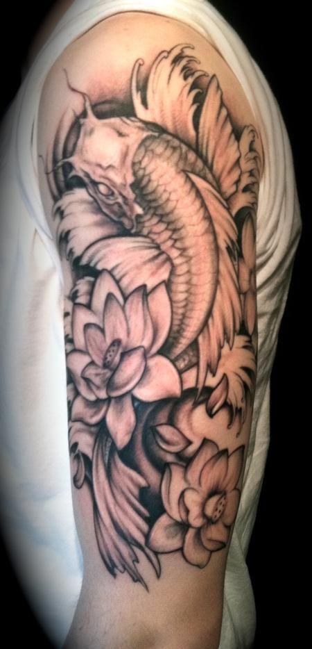 Koi Arm Tattoos for Men 2013