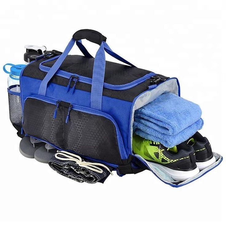 Custom Large Capacity Mens Duffle Sport Gym Bag With Shoe