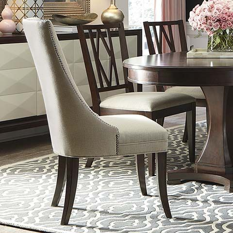 Presidio Upholstered Sling Chair   Dining Room Table End Chair